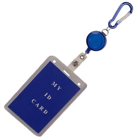 classyescort card templates climbers clip carabiner with retractable badge holder 12 card