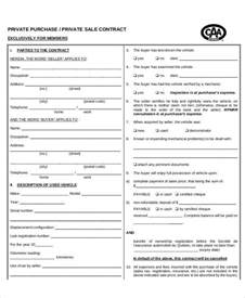 Vehicle Sales Contract Template by Doc 728950 Vehicle Sales Contract The Used Car Sales