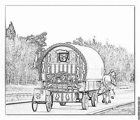 gypsy caravan for adults coloring pages gypsy best free