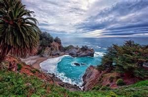 The gorgeous mcway falls of big sur in california