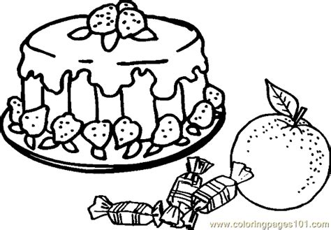 free coloring pages of plate of food