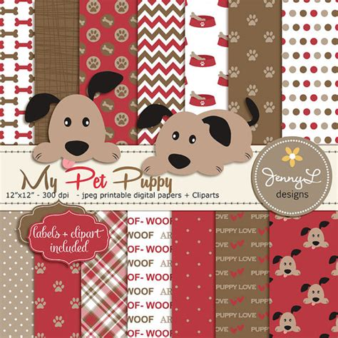 how to register a puppy without papers digital papers pet puppy clipart and brown theme
