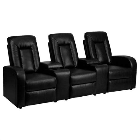 recliner seat theaters 3 seat home theater recliner in black bt 70259 3 bk gg
