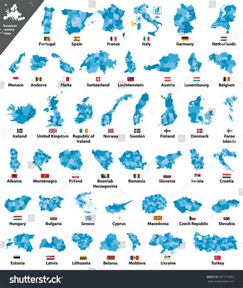 country map vector european country maps stock vector 337277969