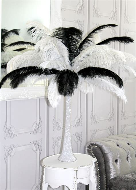 Ostrich Feather Vase by Ostrich Feather In A Lilly Vase