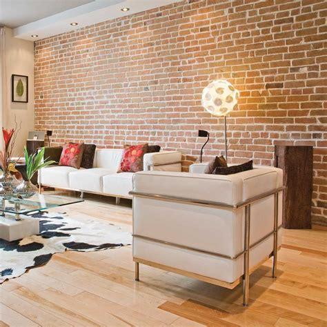 Salon Mur En by Mur De Briques Au Salon Salon Inspirations
