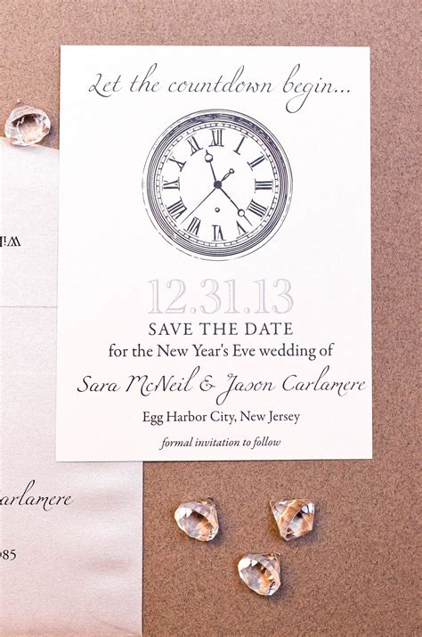 date for new year new years wedding save the date gourmet invitations