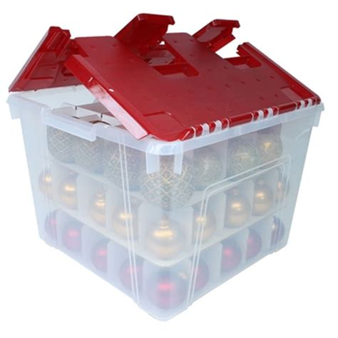 wing lid christmas ornament storage box with dividers by iris
