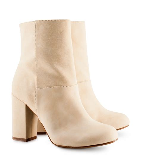 h boots s h m ankle boots in beige lyst