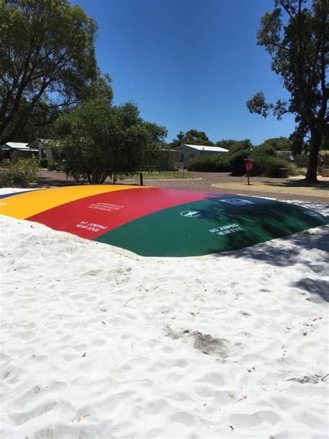 jumping pillows australia point caravan park western australia discovery