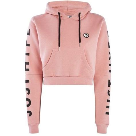 Jeny Hodie Dusty 1 dusty pink cropped cut out hoodie by hype 925 ars liked on polyvore featuring tops hoodies
