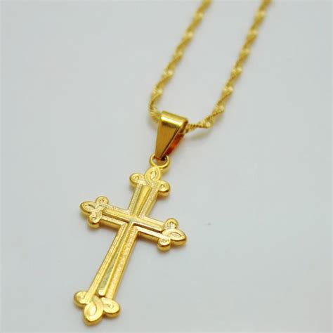 Kalung New Fashion Jewelry Gold Chain Necklace Pendant B 1 wholesale s cross necklace jesus christian plated