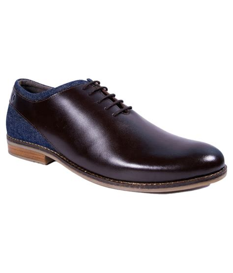 vanheusen brown lace formal shoes price in india buy
