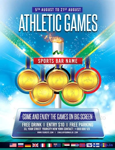 Olympics Flyer Template