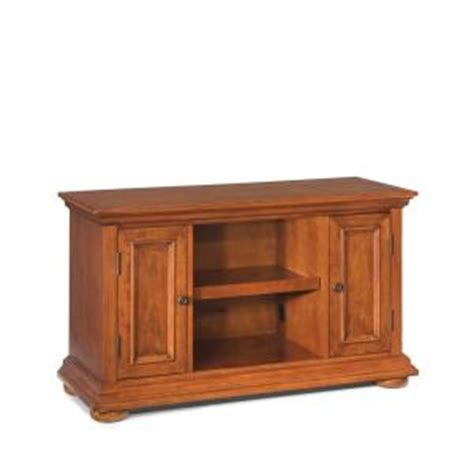 home styles homestead distressed warm oak tv stand 5527 09