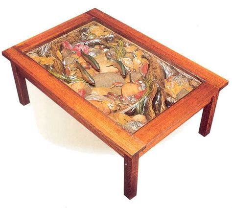 trout coffee table big sky carvers william herrick trout coffee table