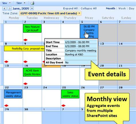 kwizcom sharepoint calendar  web part