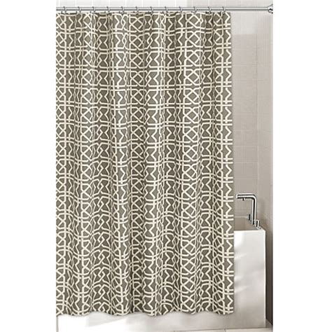 lattice curtain lattice shower curtain bed bath beyond