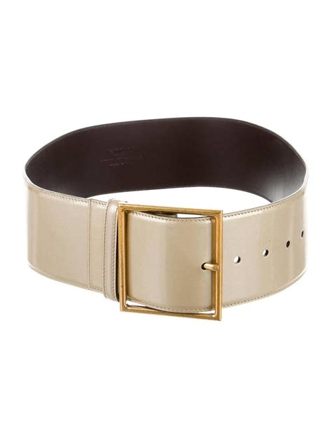 yves laurent ysl new gold patent leather gold