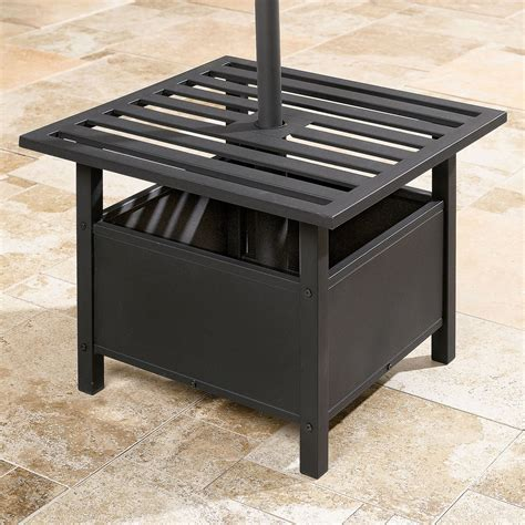 patio umbrella side table patio umbrella stand side table outdoor furniture design