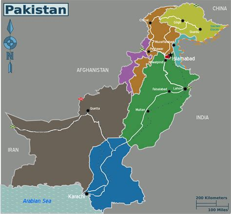 where is pakistan on the map file map of pakistan png wikimedia commons