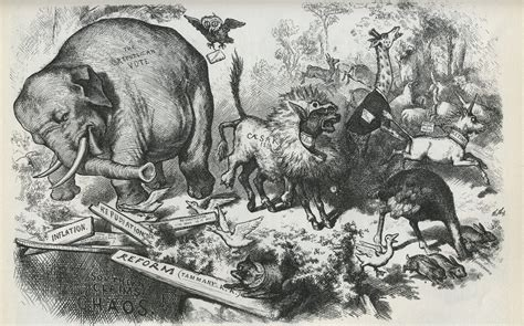 The Blind Burro Thomas Nast Political Cartoons Circa Civil War