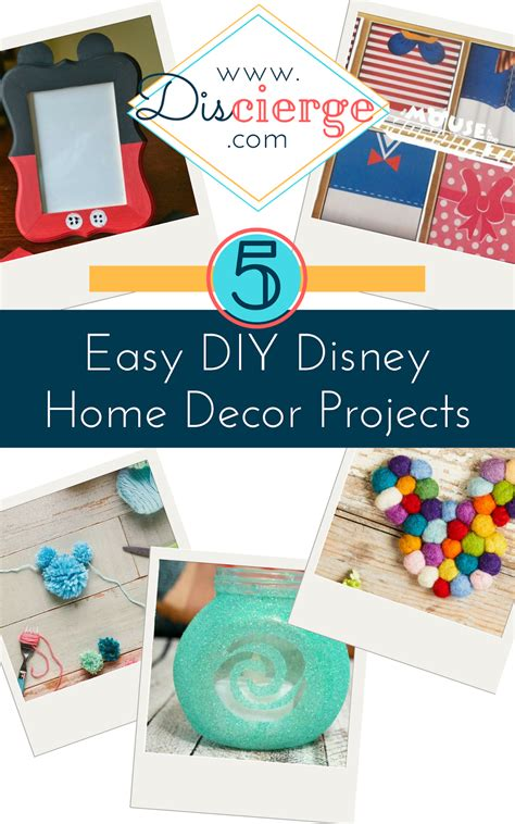 disney home decor discierge 5 easy diy disney home decor projects