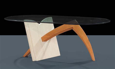 tavolo cristallo ovale tavolo ovale in materiali vari travertino legno e