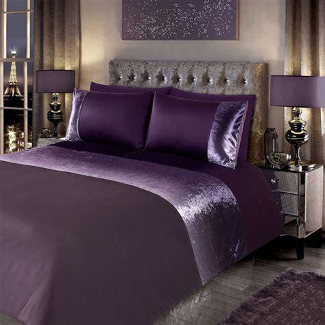 crushed velvet comforter ombre crushed velvet double duvet set bedding b m stores