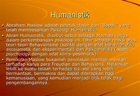 Mazhab Ketiga Psikologi Humanistik ppt psikologi belajar powerpoint presentation id 851862