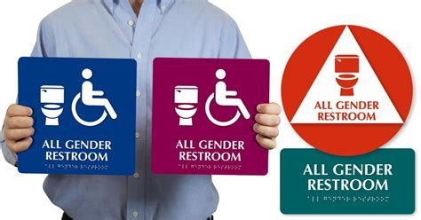 trans inclusive bathroom signs mydoorsign donating all gender bathroom signs to college cuses glaad