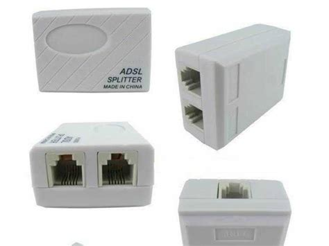 Splitter Modem Adsl adsl splitter filter for modem routers rj11 2pcs
