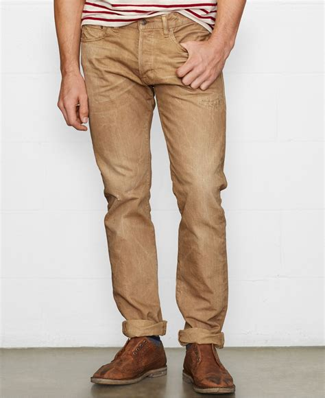 S Denim Bronzee Slim Fit Biru denim supply ralph slim fit arvon wash in brown for lyst