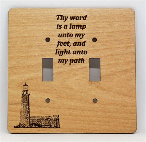 thy word is a l single switch plate etched laser designs