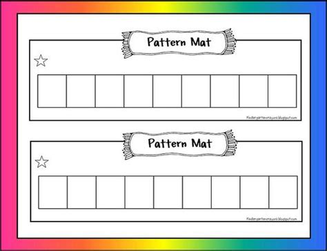 pattern maker education nice mat for making patterns repeating growing patterns