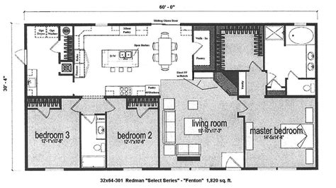 manufactured home plans open floor plans mobile homes