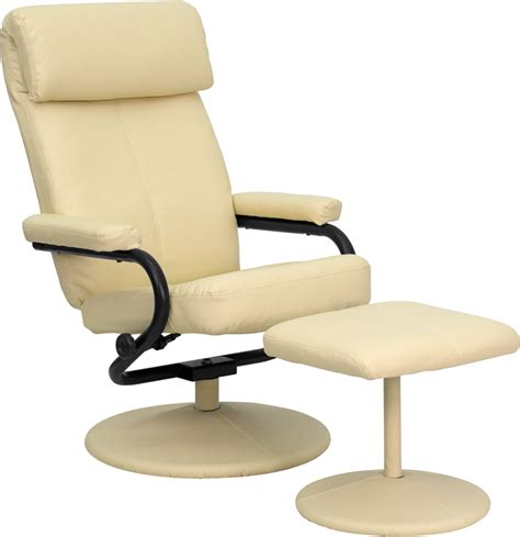 leather chair ottoman set modern leather recliner lounge chair ottoman set ebay