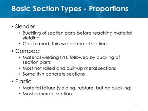 definition of sectioned ce72 52 lecture 3a section behavior flexure