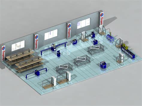 workshop layout of machines pvc window manufacturing workshop layouts