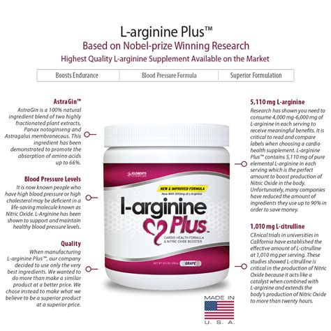 Supplement For Your Health And Nes V L Arginine Contributes To A Healthy Cardiovascular System