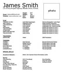 actor cv template doc bestfa tk within acting resume
