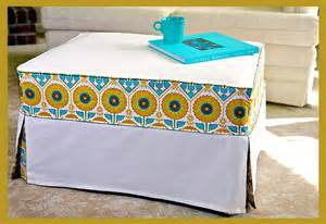 Slipcover For Ottoman Chic Slipcover Makes An Ottoman New And Cool Again Sew4home