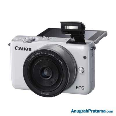 Eos M10 With Ef M 15 45mm White canon digital eos m10 with ef m15 45mm 22mm white