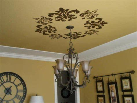 Ceiling Decals by Damask Vinyl Wall Cling Cricut Vinyls