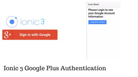 ionic authentication tutorial ionic 3 google plus authentication techieupgrader