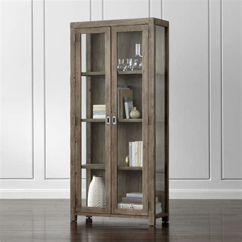 gray bookcase with doors crate and barrel mission style bookcase roselawnlutheran