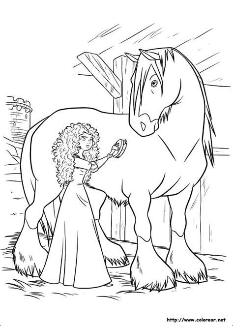 frozen horse coloring pages dibujos para colorear de indomable valiente