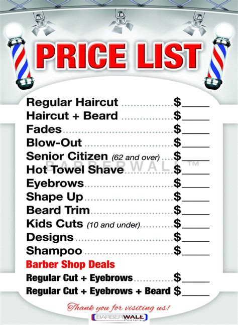 barber shop vector price list template haircut and shave retro barber amazon com barber pole decal beauty