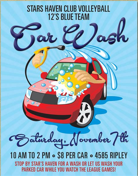25 Car Wash Flyers Sle Templates Car Wash Poster Template
