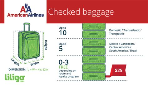 american airlines baggage fee baggage policies for american airlines liligo com